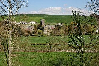 Weare Giffard - Weare Giffard Church and Wear Giffard Hall, viewed from the SW across the River Torridge on the Tarka Trail. The main modern settlement is situated to the right, some 1/2-mile upstream along the Torridge valley