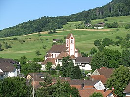 Wegenstetten - Wegenstetten village and church