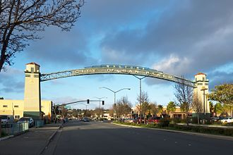 San Pablo, California - Welcome sign over San Pablo Avenue