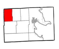 Location of Wellington Township within Alpena County