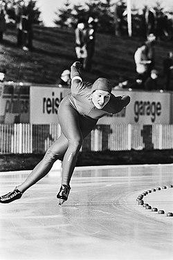 Wereldkampioenschappen schaatsen junioren allround in Assen Bjorg Eva Jensen (N, Bestanddeelnr 930-6402.jpg