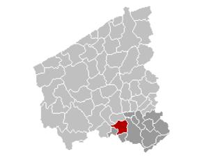 Wevelgem - Image: Wevelgem Location