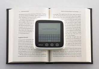 WikiReader - Image: Wiki Reader virtual keyboard
