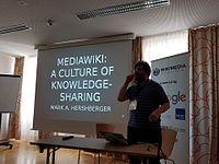Wikimedia Hackathon 2017-05-19 Fantastic MediaWikis MG 02.jpg