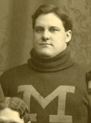 1898 College Football All-America Team - Michigan's William Cunningham (pictured) and Chicago's Clarence Herschberger were the first two players from western schools to be named to the All-America team.