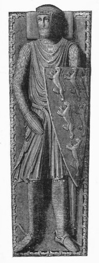 William Longespée, 3rd Earl of Salisbury - Drawing of effigy of William Longespée from his monument in Salisbury Cathedral