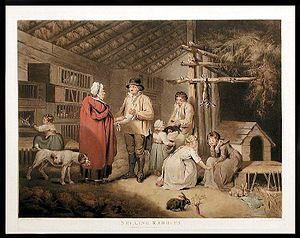 William Ward (engraver) - Selling Rabbits (1796)