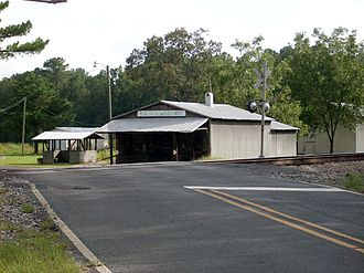 Robeson County, North Carolina - A railroad crossing and old general store in Rex