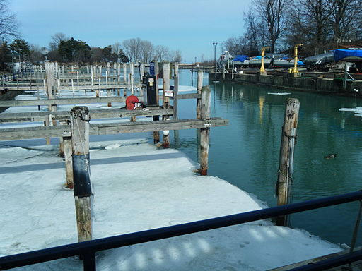 Wilmette Harbor in Winter