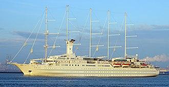 Windstar Cruises - Image: Wind Surf (ship, 1989) 001