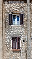 Windows on a house on the coast, Umag, Istria, Croatia.jpg