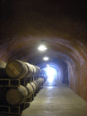 Wine cave - The wine cave at Benzinger Winery in Sonoma, CA