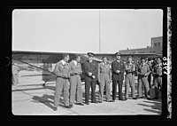 Wings over Palestine-Certificates of Flying School, April 21, 1939. Young pilots who received their flying licenses with instructors (Lydda Air Port) LOC matpc.18307.jpg