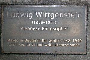 National Botanic Gardens (Ireland) - Wittgenstein plaque in the Palm House.