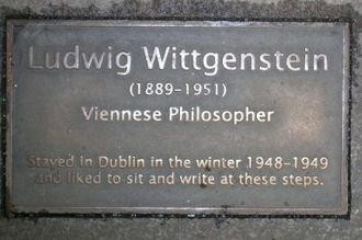 National Botanic Gardens (Ireland) - Wittgenstein plaque in the Palm House.