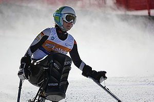 Para-alpine skiing classification - German sit skier Anna Schaffelhuber at the 2013 IPC Alpine World Championships in La Molina, Spain