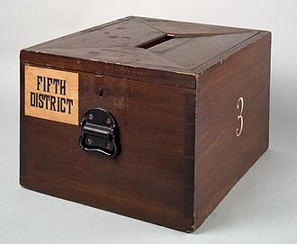 Ballot box - Image: Wooden ballot box Smithsonian