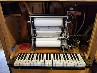Music roll - A Wurlitzer Caliola roll ready to be played