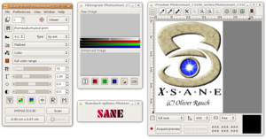 XSane on Ubuntu (Linux)