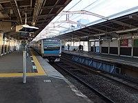 Yamate Station-platform.jpg