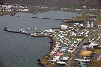 Njarðvík - Aerial view of Ytri Njarðvík
