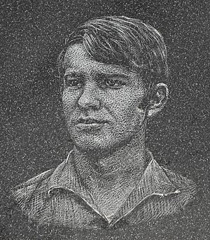Jan Zajíc - Portrait on a memorial plaque