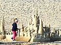 Zamek z piasku na kołobrzeskiej plaży(Aw58).JPG