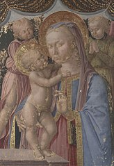 Virgin and Child with TwoAngel