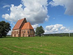 Zapyshkis church, Lithuania 2013-08-30 - another one from SE in distance.jpg