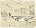 Zeezicht met duin, strand en bootje, Felix Timmermans, tekening, Letterenhuis (Antwerpen) - tg lhtk 5932.jpg