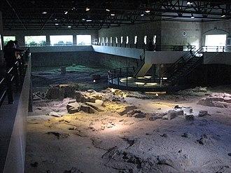 Zigong Dinosaur Museum - One of the excavation pits of the Zigong Dinosaur Museum