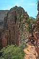 Zion Nat'l Park - the spectacular Angel's Landing trail is certainly not for the faint of heart.!! - (19490226573).jpg