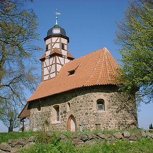 Fieldstone church - Fieldstone church at Zixdorf in the Fläming, Germany, 13th and 15th century