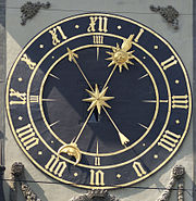 The eastern clockface.