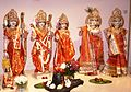 (1) Idols dressed up Lingam, Krishna and others.jpg