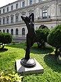 (3) Bucuresti, Romania. Muzeul Colectiilor de Arta. Curtea.(Statuie de Joseph Pollei - Noaptea-).jpg