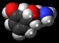 (S)-Norfenefrine molecule spacefill.png