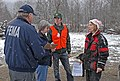 (Severe Storms, Flooding, Landslides, and Mudslides) Randle, WA, 1-10-07 -- Donn Mills and Kathleen Rhodes FEMA Community Relations (CR) and Toby Rice Washington State (CR) talk wit - DPLA - 4c9d862f6db3da15f22bfe9a328a2945.jpg
