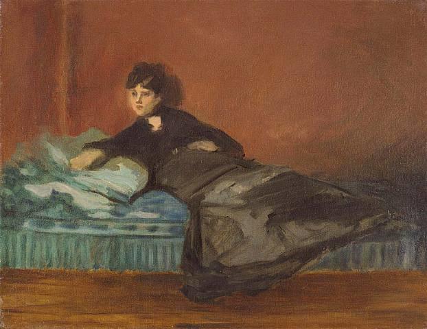 Édouard Manet - Berthe Morisot on a divan