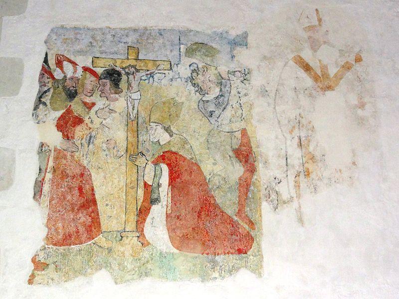 Église Saint-Pierre de Montlivault, fresque