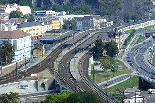 railway station in Ústí nad Labem, Czech Republic