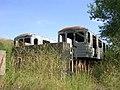Ústřední dílny DP, odstavené vlaky metra.jpg