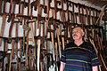 Власник найбільшої в Закарпатті колекції сокир.JPG