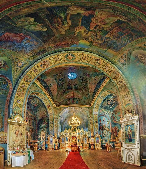 Панорама інтер'єру Спасо-Преображенської церкви