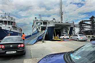 Port Kavkaz - Landing on the ferry in Port Kavkaz. 2014