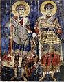 Св Георгий и Дмитрий ок.1180.jpg