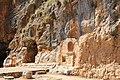 בניאס - גומחות בסלע באזור המקדשים.JPG