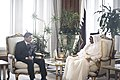 นายกรัฐมนตรีเข้าเฝ้าฯ H.H. Sheikh Hamad bin Khalifa Al - Flickr - Abhisit Vejjajiva (1).jpg