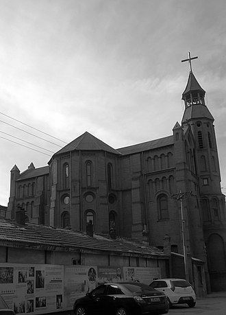 Religion in Inner Mongolia - Cathedral of the Sacred Heart of Jesus in Hohhot.