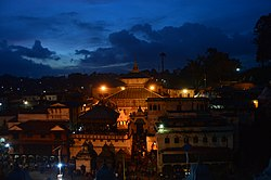 02 Night View of Pashupatinath, A sacred Hindu temple.jpg